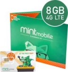 3-Month Mint Mobile 8GB 4G LTE Prepaid SIM Card Kit