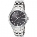 Men's Citizen Eco-Drive Black Dial Stainless Steel Watch