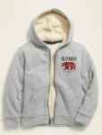 Old Navy: Extra 50% Off Select Styles: Boys' Sherpa-Lined Zip Hoodie