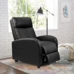Walnew Home Theater PU Leather Recliner w/ Padded Seat