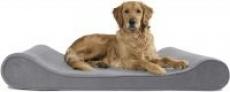 Furhaven Therapeutic Orthopedic Ergonomic Contour Jumbo Dog Bed (Gray)