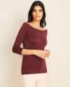 Ann Taylor Extra 50% to 60% Off Sitewide: Women's Shimmer Off The Shoulder Sweater