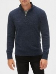 Gap Factory: Extra 50% Off Clearance: Men's Quarter-Zip Mockneck Sweater