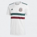 adidas Men's Mexico Away Soccer Jersey (White/Green/Burgundy)