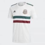 adidas Men's Mexico Away Soccer Jersey (White/Green/Burgundy)