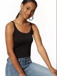 New York & Company: Women's Black Velvet Wrap Top $8.50, Skinny Cotton Tank Top