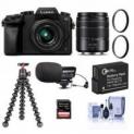 Panasonic DMC-G7 Mirrorless Camera w/ 14-42mm & 45-150mm Lenses & More