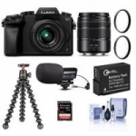 Panasonic DMC-G7 Mirrorless Camera w/ 14-42mm & 45-150mm Lenses & More