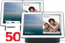 2-Pack Google Nest Hub Max (Charcoal) + $50 Verizon eGift Card