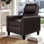 Lifestyle Solutions Aster Faux Leather Push Back Recliner (Java)