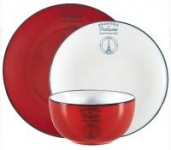 12-Pc Mainstays La Francaise Round Stoneware Red Dinnerware Set (Service for 4)