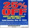 Harbor Freight: 25% off coupon on 5-10-20(with the usual limitations)