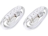 2-Pack Rosewill 3-Outlet Power Strip w/ 6′ Cord & Flat Plug (White)