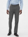 Banana Republic Factory: Slim-Fit Wrinkle Resistant Grey Texture Pants