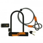 OnGuard Double Team Bike U-Lock and 4′ Cable