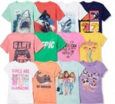Children's Place Graphic Tees: Big Kids' from $2 Baby / Toddler
