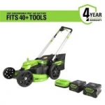 Greenworks Pro 60V Brushless Li-Ion Self-Propelled 25″ Electric Lawn Mower