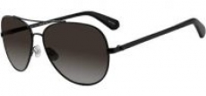 Kate Spade Avaline 2/S Polarized Aviator Sunglasses (Black)