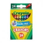 Crayola: 10-Ct Markers (Broadline or Fine Line) $1 each 24-Ct Crayons