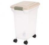 IRIS Airtight Pet Food Storage Container (22-Lb Capacity Almond)