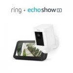 Ring Spotlight Cam (Wired or Battery) + Amazon Echo Show 5