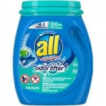 180-Ct All Mighty 4-in-1 Laundry Detergent Pacs (Odor Lifter)