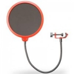 Deco Gear Universal Pop Filter w/ Goose Neck Mic Stand Clip
