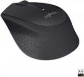 Logitech M330 Silent Plus Ergonomic Wireless Mouse (Black or Grey)