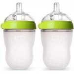Comotomo Silicone Baby Bottles: 2-Pack 8-Ounce