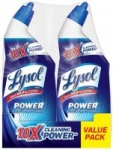 Lysol Power Toilet Bowl Cleaner 48oz (2 pk 24oz) $3.22 at Amazon