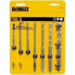 7-Piece DeWALT Carbide Masonry Drill Bit Set