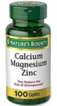Amazon has 100 Caplets Calcium-Magnesium-Zinc by Nature's Bounty + Vitamin D for immune support & calcium absorption for $2.60 with 5% S&S