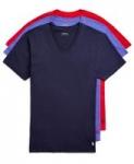 3-Pack Polo Ralph Lauren Men's Classic V-Neck or Crew Neck T-Shirts