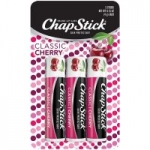 3-Count ChapStick Classic Skin Protectant Flavored Lip Balm Tube (Cherry)