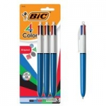 3-Count BIC 4-Color Ballpoint Pen (1.0mm Assorted)