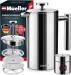Mueller French Press Heavier Duty Double Insulated Stainless Steel Coffee Maker