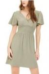 Women's & Juniors' Dresses: Planet Gold Flutter-Sleeve Dress