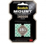 1×1 inch 48 squares Scotch Indoor double sided adhesive Mounting Tape Holds up to 15 pounds $2.99