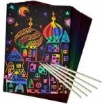 Scratch Paper Art Set 50 Piece Rainbow Magic Scratch Paper for Kids $5.49