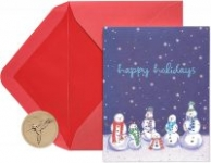 20-Count Papyrus Christmas Cards Boxed (Happy Holidays Snowmen)