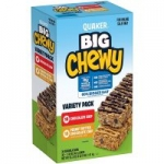 36-Pack 1.48oz. Quaker Big Chewy Granola Bars (Chocolate Chip + Peanut Butter)