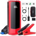 20000mAh Audew 2000A Upgraded Car Jump Starter w/ Dual QC USB Ports