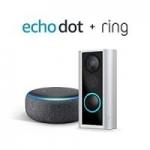 Ring Peephole Cam + Echo Dot 3rd Gen Smart Speaker