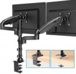 Dual Monitor Stand – Fit Two 17 to 32 inch Screens with Clamp $41.99