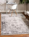 3'3″ x 5'3″ Unique Loom Sofia Traditional Area Rug (Gray or Dark Gray)