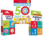 Kids' Flashcards: 50-Ct Sight Words + 58-Ct Colors & Shapes + 58-Ct Addition
