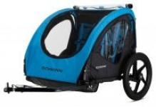 Schwinn Shuttle 2-Child Foldable Bike Trailer (Blue/Black)