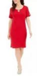 Karen Scott Women's Dresses: Petite Cotton Split-Neck Dress