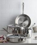7-Piece All-Clad Stainless Steel Cookware Set
