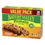 10-Count 1.42oz Nature Valley Protein Granola Bar (Peanut Butter Dark Chocolate)